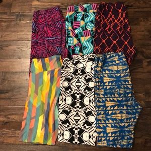Pack of 6- lularoe leggings